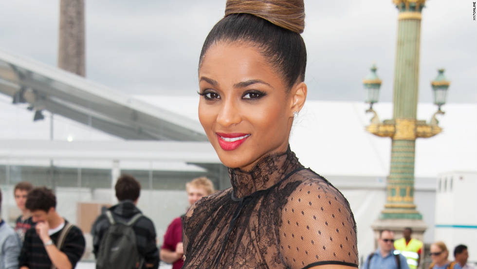 Ciara attends a fashion show in Paris.