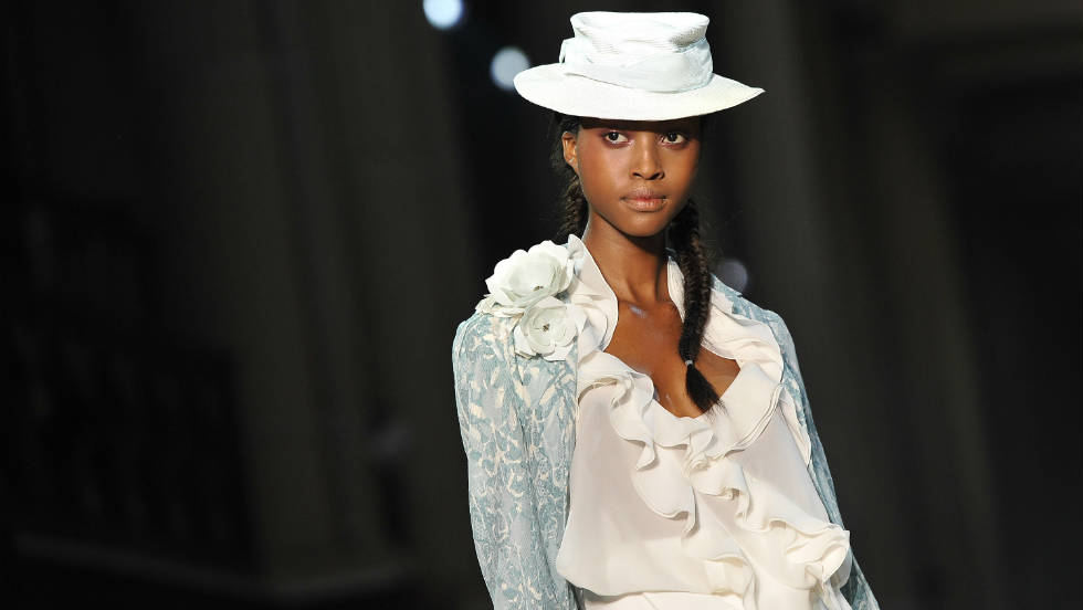 A model walks the runway during the John Galliano Ready-to-Wear Spring/Summer 2012 show.