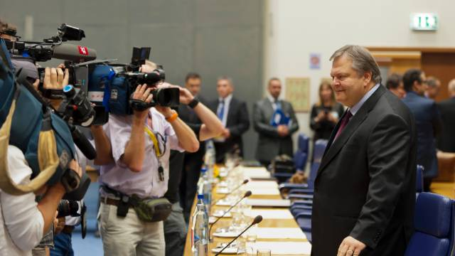 Greek Finance Minister Evangelos Venizelos, pictured on October 3, 2011,  acknowledged his country would miss its deficit targets.