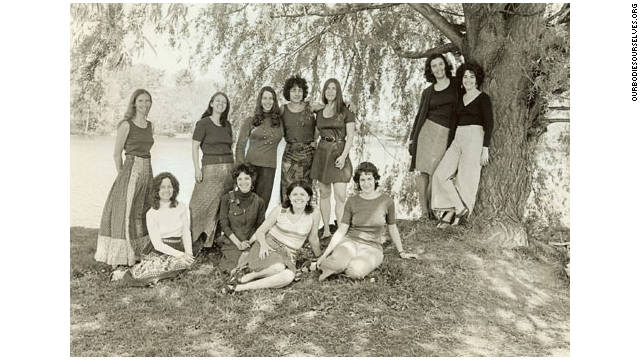 The original founders of the Boston Women's Health Book Collective pose for a photograph in the 1970s.
