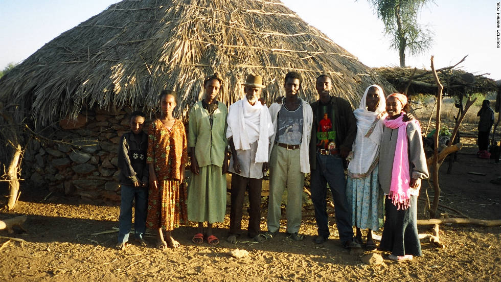 Hannah Pool with her father (in the middle wearing a hat) and other family members in Eritrea.