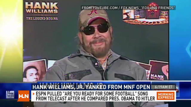 Hank Williams Jr. pulled from 'MNF'