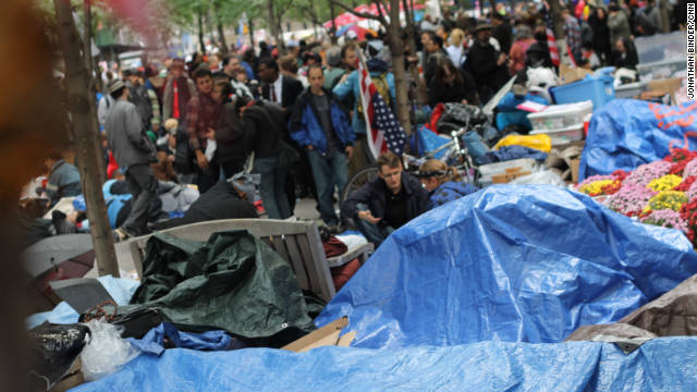 Protesters have been camping out at New York's Zuccotti Park in lower Manhattan for more than two weeks.