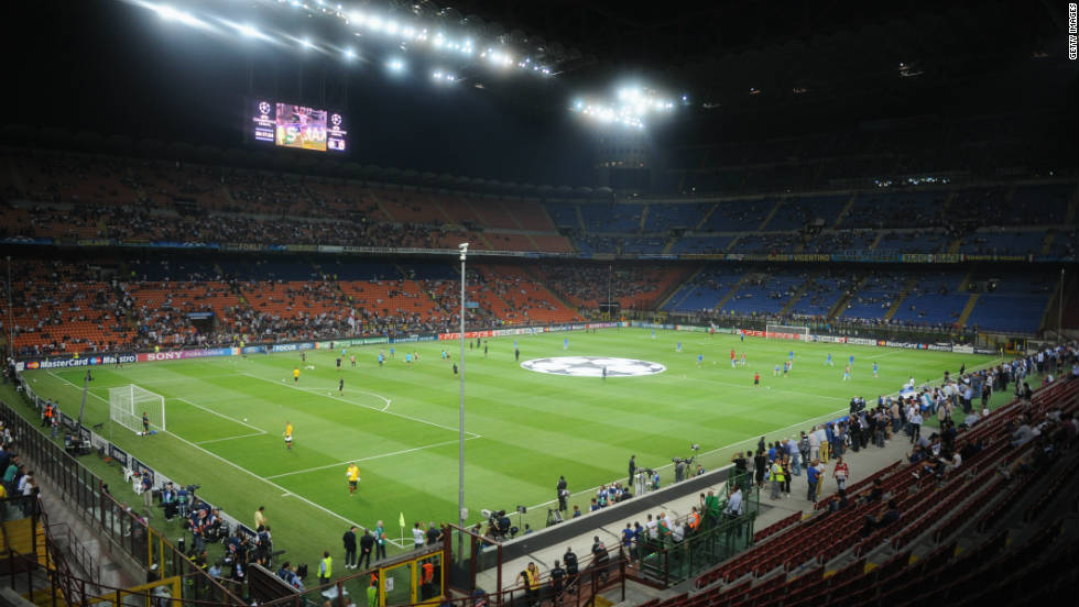 The San Siro in Milan is home to the city's two big teams, Inter and AC. Both clubs can attract up to 80,000 fans to their home games.