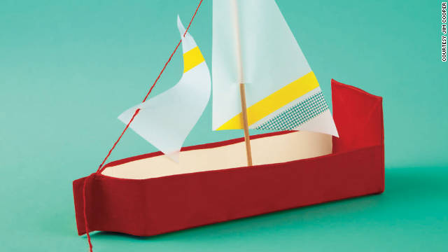 Use gaffer's tape and vellum to make a waterproof sailboat.