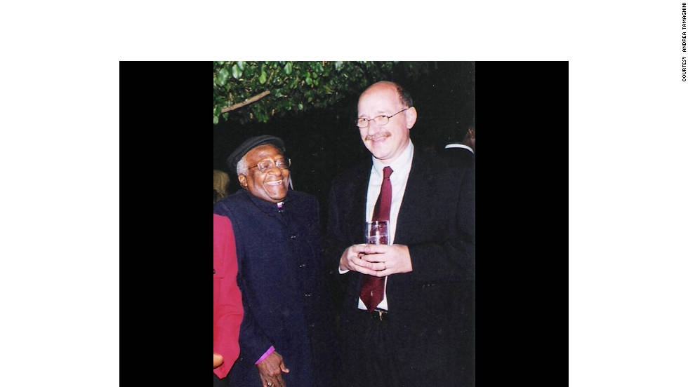 "While working for the United Nations in Somalia in 2002, Andrea Tamagnini met Tutu during an event in Nairobi. ""I remember he was very eager to know what we were working on in Somalia,"" said Tamagnini. ""I'll never forget his words of encouragement, his open smile and his kindness."""