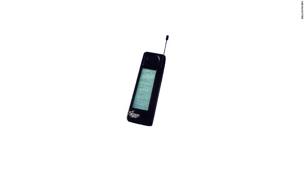 Bell South/IBM's Simon Personal Communicator retailed for $899 and was the first phone to include PDA functions like a calculator, an address book and e-mail. It also had a revolutionary (for its time) touchscreen that replaced the number buttons.