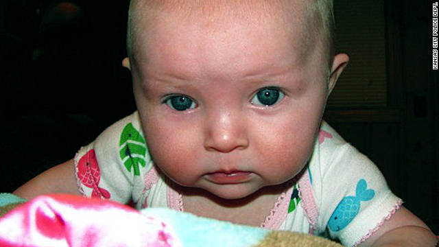 Police say Lisa Irwin, 10 months old, was taken Monday from her Kansas City, Missouri, home.