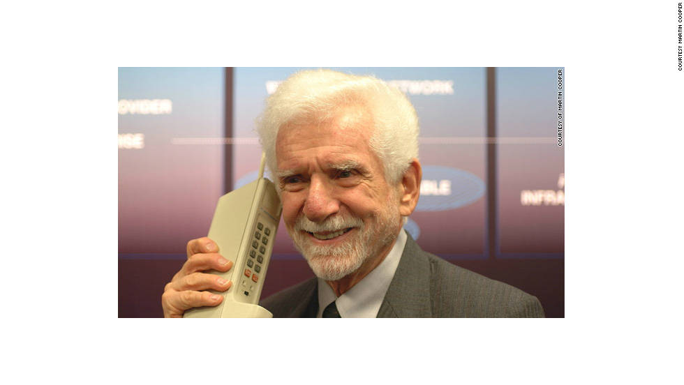 In 1973, Martin Cooper made history when he demonstrated a prototype of the first cell phone on the streets of New York.  Ten years later, Motorola released the phone to the public. The DynaTAC 8000X was the size of a brick, weighed more than 2 pounds and sold for $3,900.