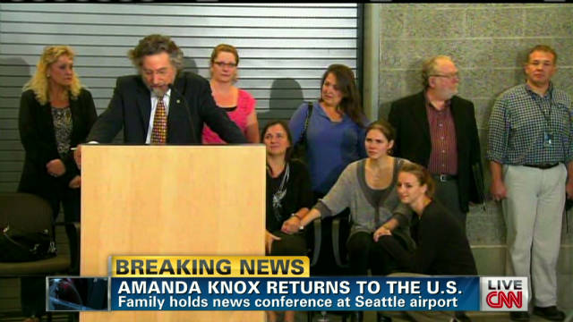Amanda Knox, family begin trek home