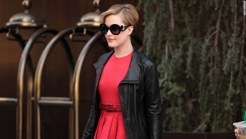 Evan Rachel Wood leaves a hotel in New York City.