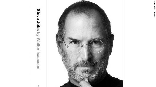 "The cover of ""Steve Jobs,"" by Walter Isaacson, to be published later this month by Simon & Schuster."