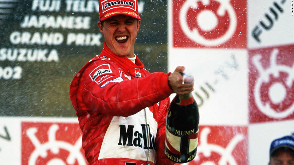 Vettel's fellow German Michael Schumacher secured the fifth of his seven world championships with six races to go in the 2002 season.