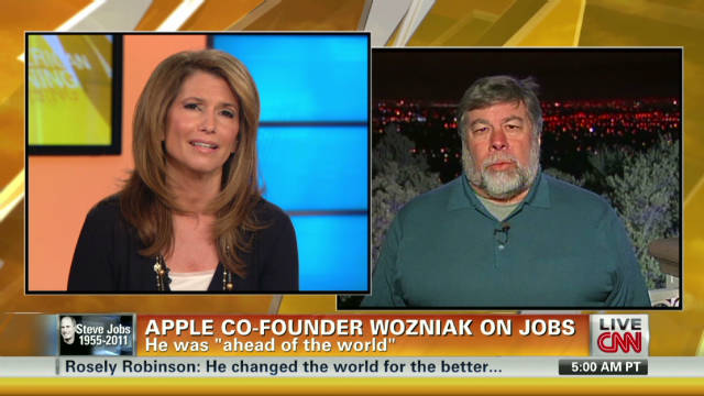 Wozniak: Jobs 'a great visionary, leader'