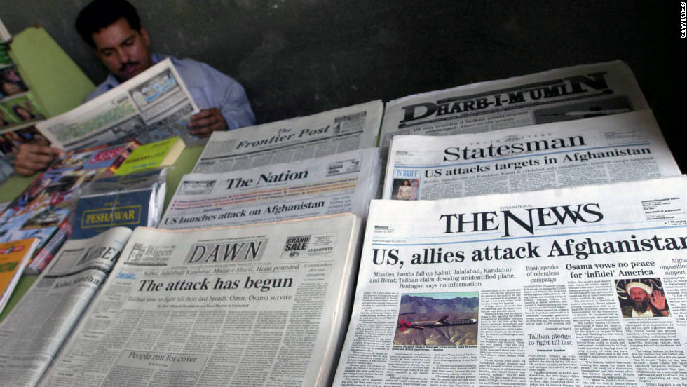 The U.S.-led war in Afghanistan started on October 7, 2001, in response to the 9/11 attacks. Ten years later, look back at some of the moments and key development from the conflict, which has drawn praise and criticism since its beginning.
