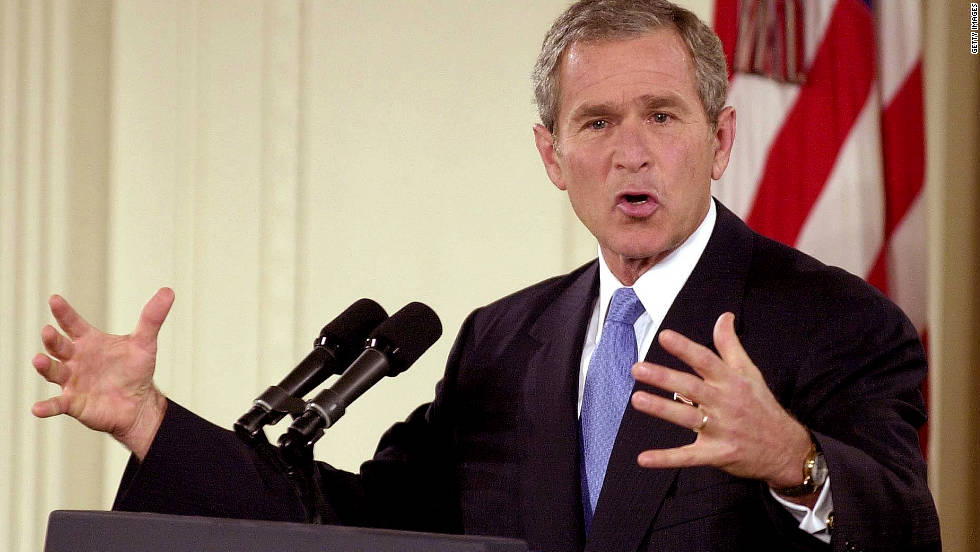 george w bush during afghanistan's war George w bush: address to congress it will not look like the air war above kosovo two years ago we will come together to promote stability and keep our airlines flying, with direct assistance during this emergency.