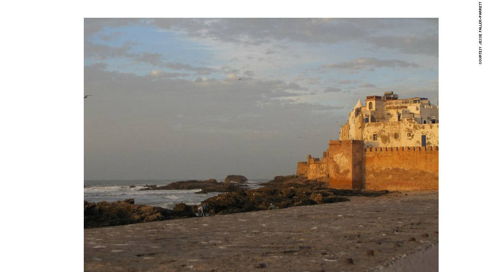 "Jessie Faller-Parrett took this photo in the early evening after arriving at one of the remaining fortress walls in the Atlantic Coast city of Essaouira. ""A beautiful seaside town with a European feel, Essaouira offers a relaxed atmosphere, great fresh seafood and beautiful scenery."""