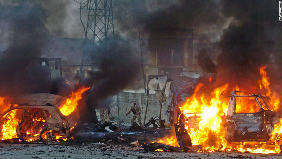 Suicide car bombers kill an Afghan citizen and wound four others in Kabul on November 14, 2005. Another suicide car bomber killed a German soldier and wounded two other German soldiers, as well as three civilians, an hour before.