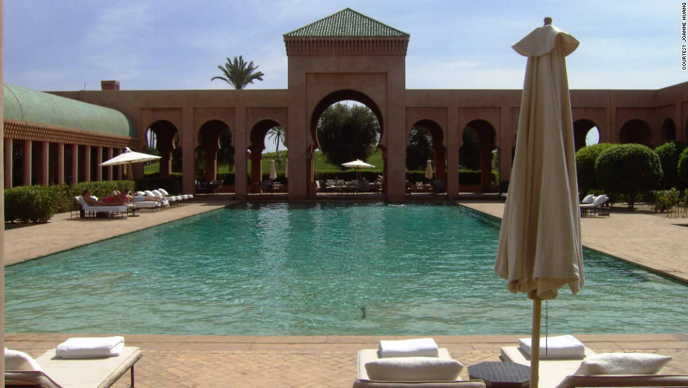 "Joanne Huang shot this while ""relaxing at the outdoor swimming pool of Amanjena while enjoying the Moroccan-style architecture. The vibrant culture, wonderful people, amazing food, and the breath-taking sights alone would be more than enough reasons for me to go back again and explore the rest of Morocco!"""