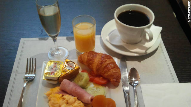 A champagne breakfast in Paris.