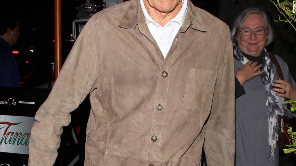 Clint Eastwood dines in West Hollywood.