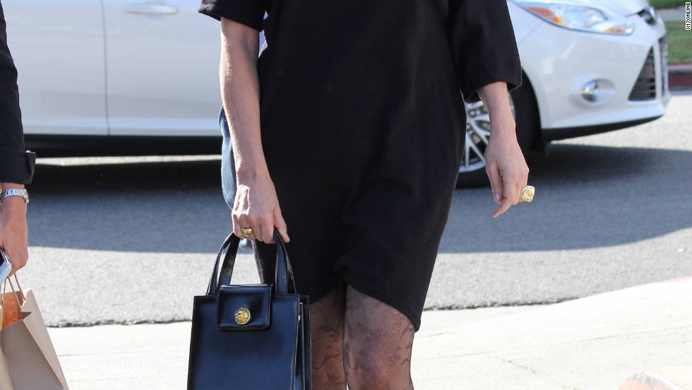 Sharon Stone has lunch with friends in Brentwood, California.