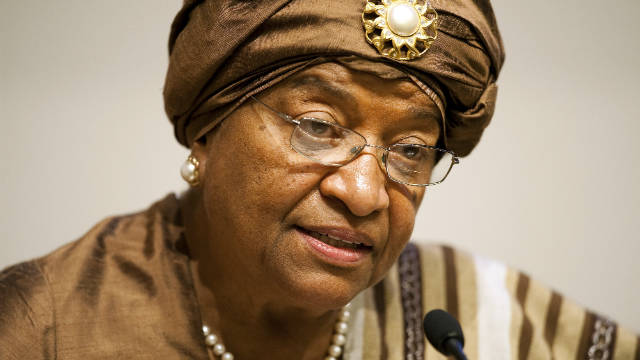 Ellen Johnson Sirleaf, president of Liberia and one of three winners of the 2011 Nobel Peace Prize