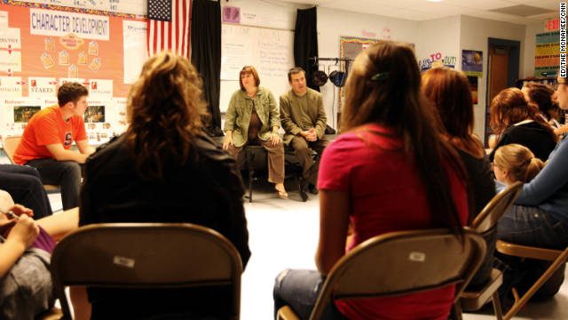 Kristi Fuller's drama class produced a play (with help from Craig Thornton) about the effects of war on students.