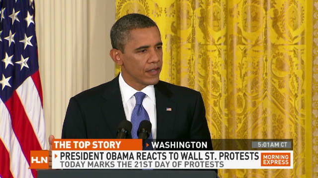 'Occupiers' get Obama's attention