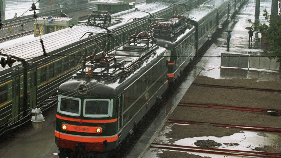 The Chongqing Duisburg rail-link is not the first to connect Asia and Europe. The Trans-Siberian Railway (pictured) has transported goods and people from Moscow to the Pacific-coast city of Vladivostok for just under a century.
