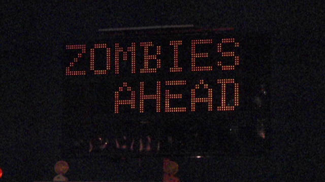 Road sign warns 'Zombies Ahead'
