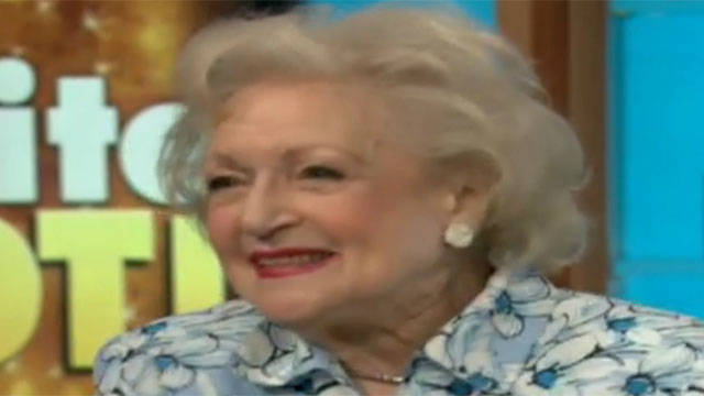 HLN's Joy Behar talks with actress Betty White.