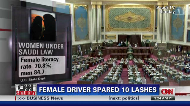 Saudi female driver spared 10 lashes