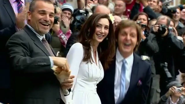 Celebrities at Paul McCartney's wedding