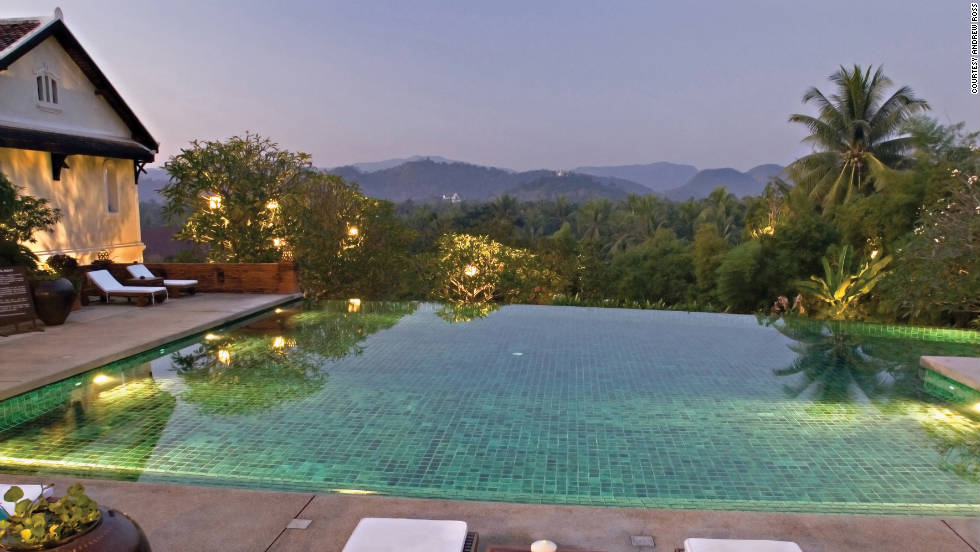 One of the best hotels in Laos' old royal capital of Luang Prabang, this white-walled colonial mansion nestles amid a forest of palm trees on a hill.