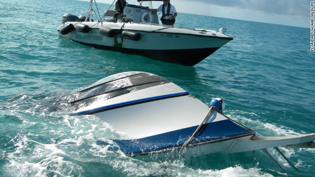 The Coast Guard says eight people were on board the boat when it capsized on Saturday near Marathon, Florida.