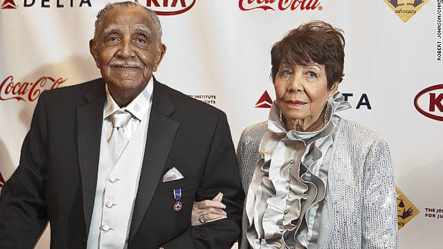 Reverend Dr. Joseph Lowery and his wife Evelyn in 2011.