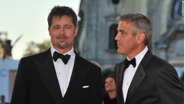 Both Brad Pitt, left, and George Clooney could receive Oscar nominations for this year's work.
