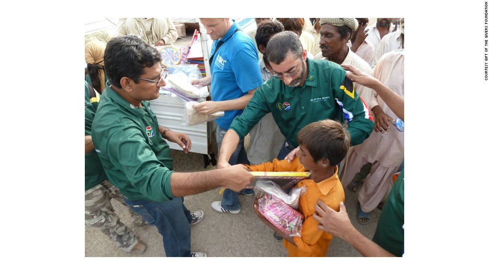 South African Imtiaz Sooliman is the founder of the Gift of the Givers Foundation. The agency has so far delivered aid to 32 countries since its launch in 1992.