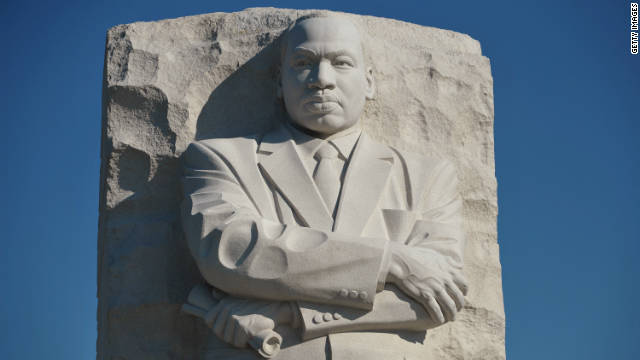 "The ""Stone of Hope"" sculpture by Chinese artist Lei Yixin at the Martin Luther King Jr. National Memorial in Washington."