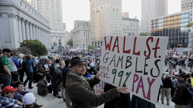 Occupy Wall Street protesters rally last week in Foley Square in New York.