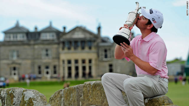 South Africa's Louis Oosthuizen won the first major of his career at the Old Course in 2010.