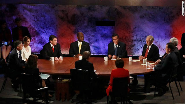Tuesday night's GOP presidential debate at Dartmouth College in Hanover, New Hampshire, focused on the economy.