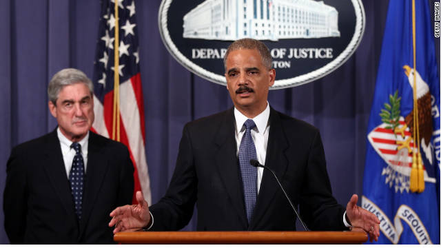 U.S. Attorney General Eric Holder, right, and FBI Director Robert Mueller say Iran plotted to kill the Saudi ambassador to the U.S.