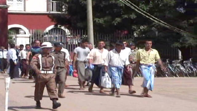 Prisoners released in Myanmar