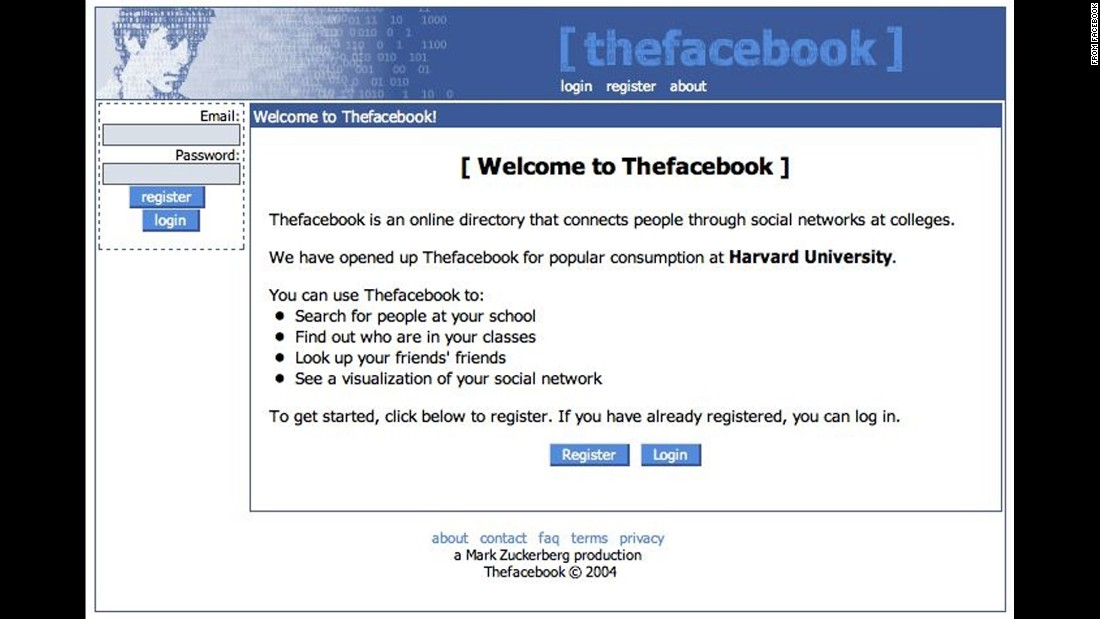 "It was first known as ""Thefacebook"" when it launched at Harvard University as a way for students to connect. The social-networking site spread to Columbia, Stanford and Yale universities the following month, and the Facebook Wall made its debut in September. By December, Thefacebook had nearly 1 million users."