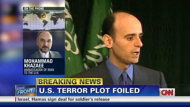 Iranian amb: Terror plot is 'big lie'