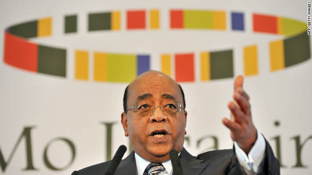 "Mo Ibrahim's message to dictators: ""Please retire, otherwise Tahrir square is coming to your country."""