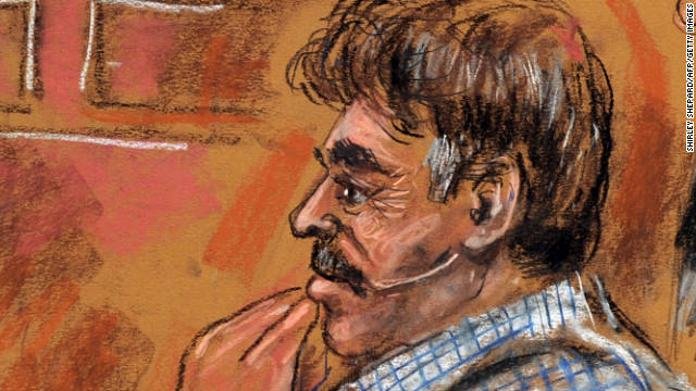 An artist's rendering of Manssor Arbabsiar at his arraignment Tuesday at federal court in New York.