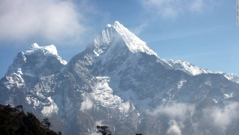 """I first trekked in Nepal in the early 1980s. Without doubt, Himalayan glaciers in Nepal have shrunk dramatically during this period,"" says iReporter Barry Wenlock."